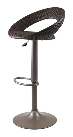 Winsome Wood 93138 Bali Adjustable Airlift Stool, Woven Seat - BarstoolDirect.com