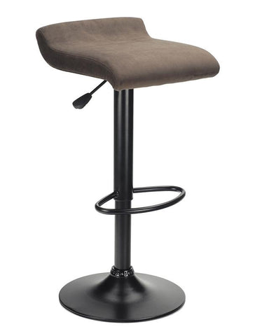 Winsome Wood 93189 Marni Air Lift Stool, Micro Fiber Seat Top, Black and Stain Finish - BarstoolDirect.com