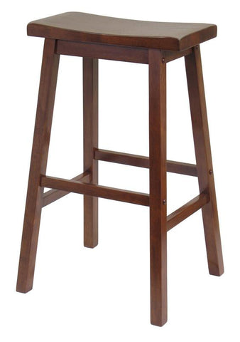 "Winsome Wood 94089 Saddle Seat 29"" Stool, Single, RTA - BarstoolDirect.com"