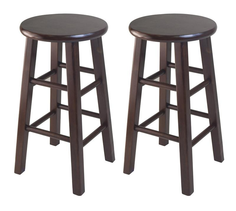 Winsome Wood 94264 Set of 2 Square Leg, 24 Counter Stool