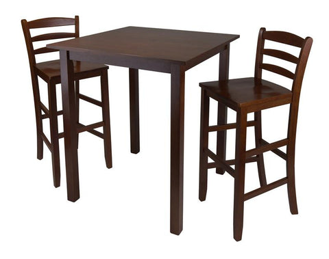 "Winsome Wood 94359 Parkland 3pc High Table with 29"" Ladder Back Stool - BarstoolDirect.com"