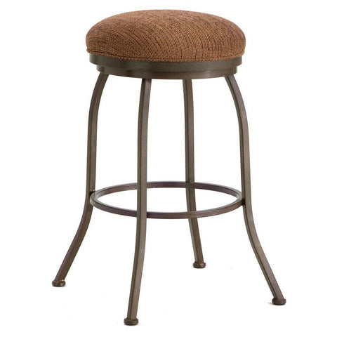 "Iron Mountain 2002430 Fiesole Backless Bar Stool 30"" Seat Height w/ Ford Brown Fabric - Rust - BarstoolDirect.com"