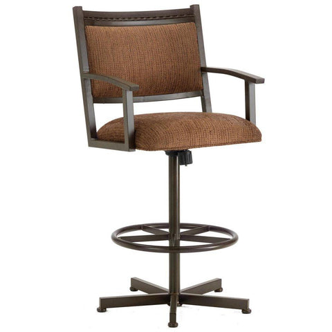 "Iron Mountain 2405430 Humphrey Tilt Swivel Bar Stool 30 "" Seat Height w/ Ford Brown Fabric - Rust - BarstoolDirect.com"
