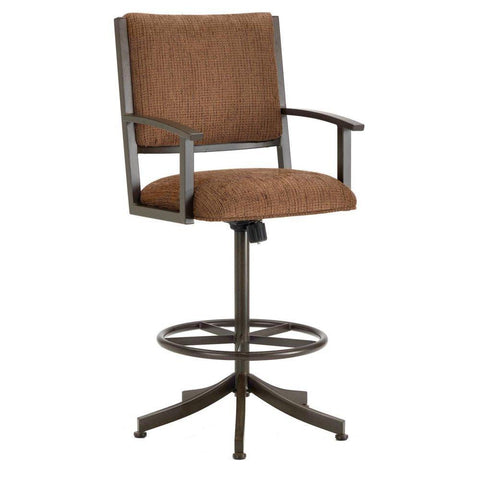 "Iron Mountain 4705426 Executive Tilt Swivel Counter Stool  26"" Seat Height w/ Ford Brown Fabric - Rust - BarstoolDirect.com"