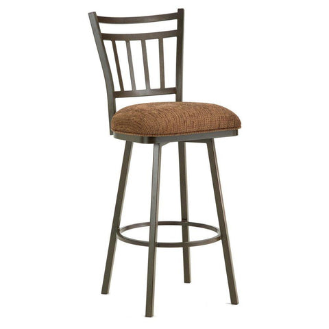 "Iron Mountain 5603626 Emma Swivel Counter Stool 26"" Seat Height w/ Radar Nugget Fabric - Rust - BarstoolDirect.com"