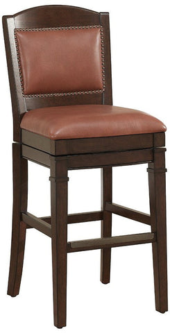 American Heritage Billiards 130117 Artesian Bar Height Stool  in Crimson - Peazz Furniture