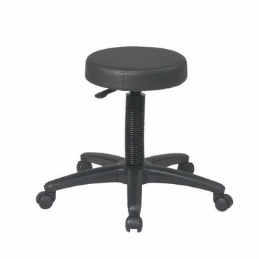 Office Star Work Smart ST215 Backless Drafting Stool with Nylon Base - BarstoolDirect.com