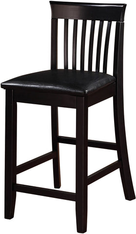 Linon 01857BLK01U Torino Collection Craftsman Counter Stool - BarstoolDirect.com