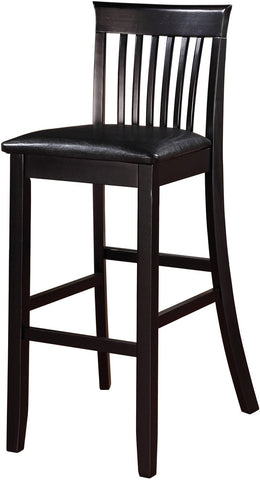 Linon 01858BLK01U Torino Collection Craftsman Bar Stool - BarstoolDirect.com