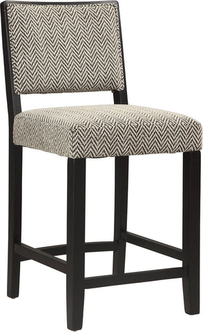 Linon 022605TWD01U Zoe Counter Stool - Bridgeport - BarstoolDirect.com