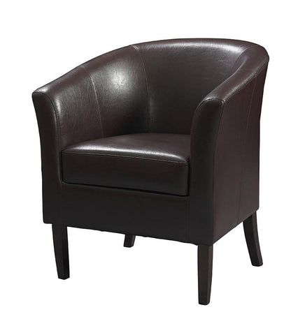 Linon 36077BER-01-AS-U SIMON CLUB CHAIR BLACKBERRY - BarstoolDirect.com