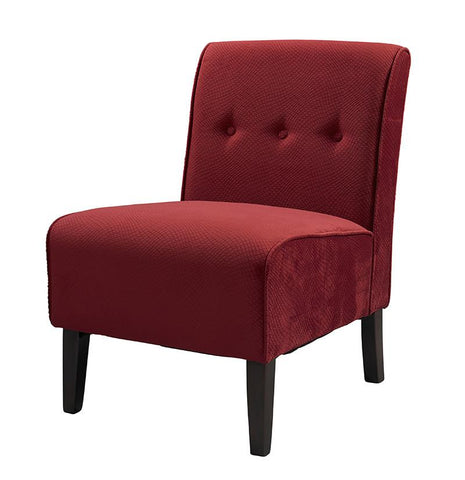 Linon 36096RED-01-KD-U COCO ACCENT CHAIR - RED - BarstoolDirect.com