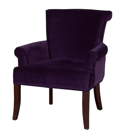 Linon 36261PRP01U Calla Chair - Dark Purple - BarstoolDirect.com