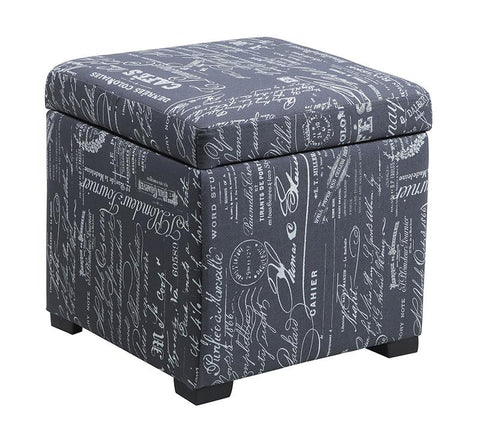 Linon 40520SCRPLIN-01-AS Judith Ottoman with Jewelry Storage - BarstoolDirect.com