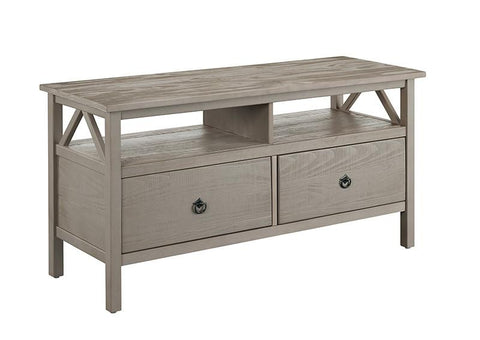 Linon 86158GRY01U Titian Rustic Gray TV Stand - BarstoolDirect.com