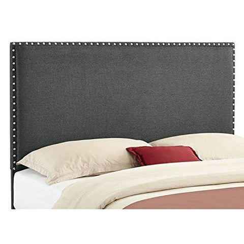 Linon 881000CHA01U Contempo Headboard Full/Queen Charcoal (13-C182) - BarstoolDirect.com
