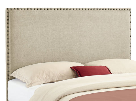 Linon 881000NAT01U Contempo Headboard Full/Queen Size Natural (13-C182) - BarstoolDirect.com