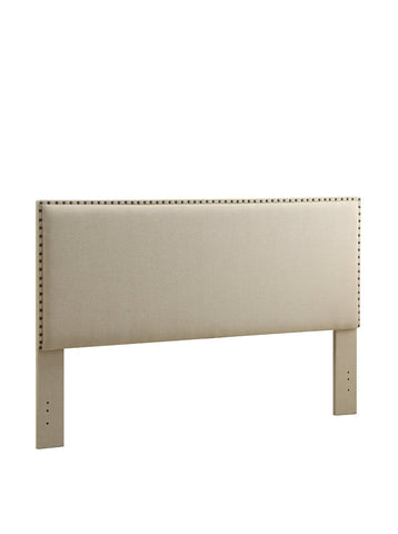 Linon 881001NAT01U Contempo Headboard King Natural (13-C182) - BarstoolDirect.com