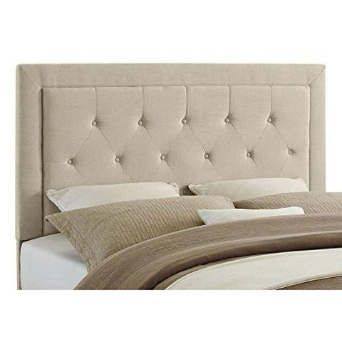 Linon 881005NAT01U Clayton Headboard Full/Queen Size-Natural Linen (13-C187) - BarstoolDirect.com
