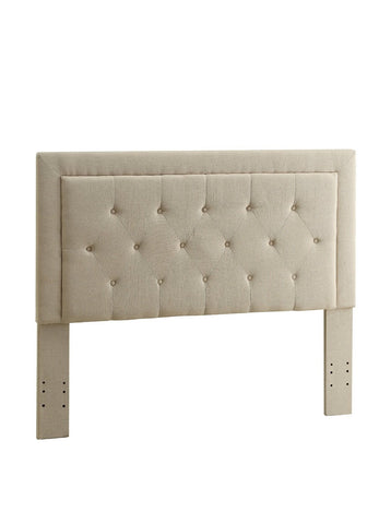 Linon 881006NAT01U Clayton Headboard King Size-Natural Linen (13-C187) - BarstoolDirect.com
