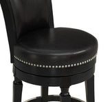 American Heritage Billiard 130156 Chelsea Bar Height Stool in Black - BarstoolDirect.com - 6