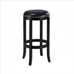 "Boraam 33624 24"" Cordova Swivel Stool, Black - Peazz Furniture"