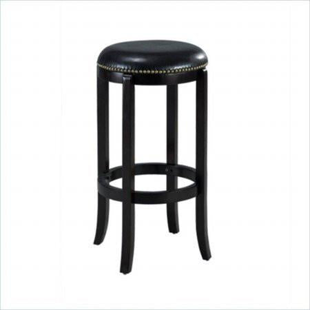"Boraam 33629 29"" Cordova Swivel Stool, Black - BarstoolDirect.com"