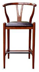 "Boraam 51029 29"" Wishbone Bar Stool, Cherry - BarstoolDirect.com"