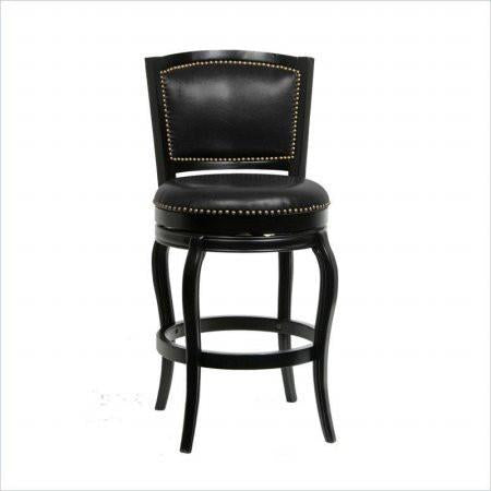 "Boraam 51329 29"" Harris Memory Swivel Stool, Black - BarstoolDirect.com"