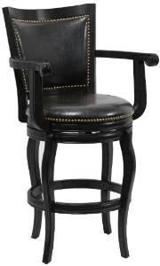 "Boraam 52329 29"" Jones Memory Swivel Stool, Black - BarstoolDirect.com"