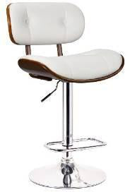 Boraam 99431 Smuk Adjustable Swivel Stool, White - BarstoolDirect.com