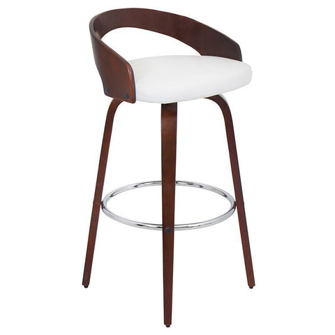 LumiSource BS-JY-GRT CH+W Grotto Bar Stool - BarstoolDirect.com