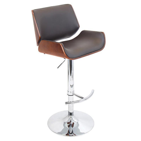 LumiSource BS-JY-SNT CH+BN Santi Bar Stool - BarstoolDirect.com