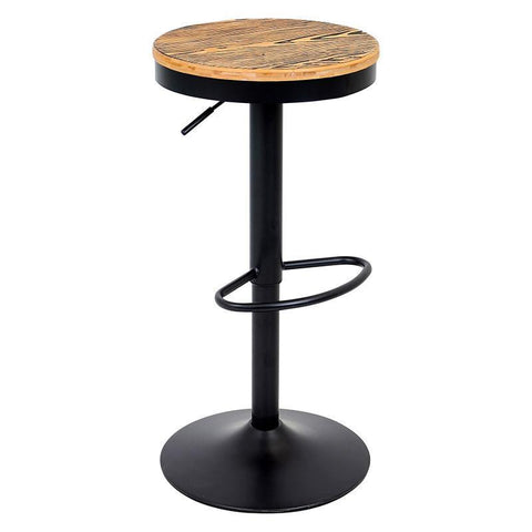 LumiSource BS-TW-DAK BK Dakota Bar Stool - Black - BarstoolDirect.com