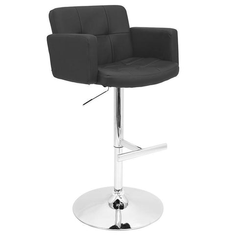 LumiSource BS-TW-STOUT BK Stout Bar Stool - BarstoolDirect.com