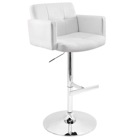 LumiSource BS-TW-STOUT W Stout Bar Stool - BarstoolDirect.com