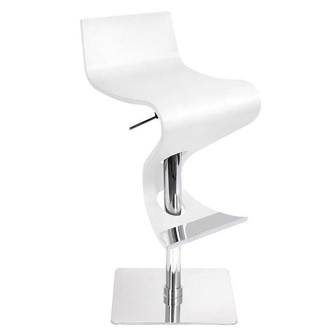 LumiSource BS-VIVA WD W Viva Bent Wood Bar Stool - BarstoolDirect.com