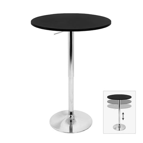 LumiSource BT-ADJ23TW BK Adjustable Bar Table - BarstoolDirect.com