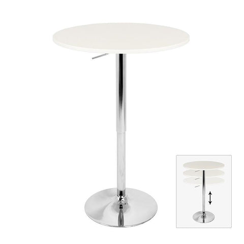 LumiSource BT-ADJ23TW W Adjustable Bar Table - BarstoolDirect.com