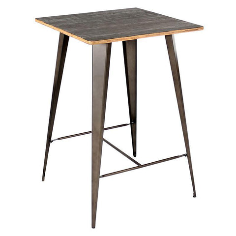 LumiSource BT-TW-OR DKE+AN Oregon Pub Table - BarstoolDirect.com