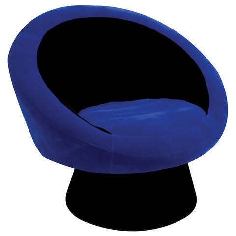 LumiSource CHR-SAUCE BK+BU Saucer Chair - BarstoolDirect.com
