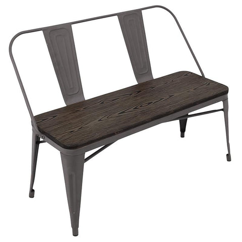 LumiSource DC-TW-OR BENCH Oregon Dining Set - Bench - Peazz.com