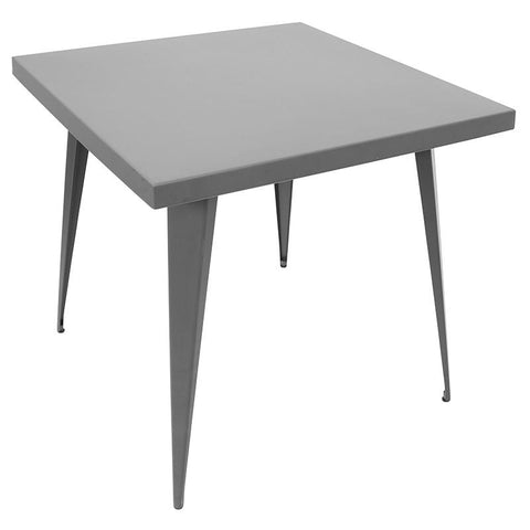"LumiSource DT-TW-AU3232 GY Austin Dining Table 32"" x 32"" - Peazz.com"