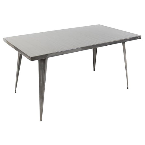 "LumiSource DT-TW-AU6032 SV Austin Dining Table 59"" x 32"" - Peazz.com"
