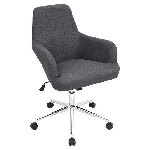 LumiSource OFC-AC-DGR GY Degree Office Chair Grey - Peazz.com