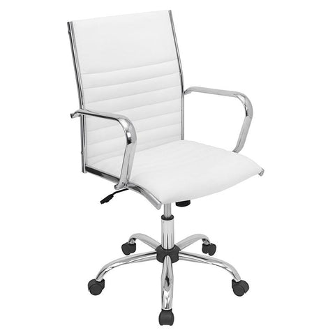 LumiSource OFC-AC-MSTR W Master Office Chair - Peazz.com