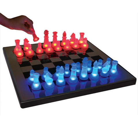 LumiSource SUP-LEDCHES-BR LED Glow Chess Set - Peazz.com