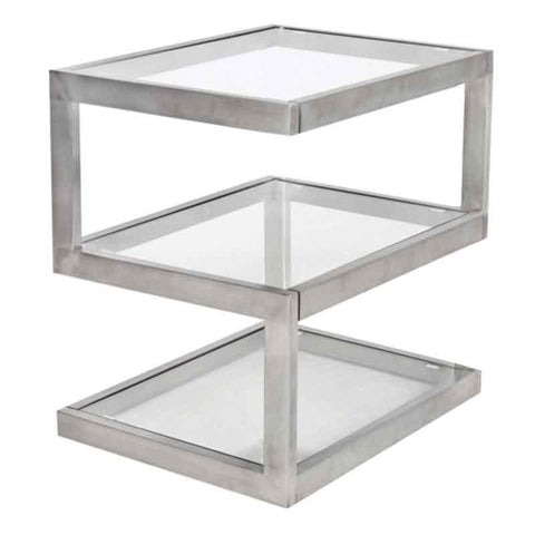 LumiSource TB-5S SS 5s Side Table - Peazz.com