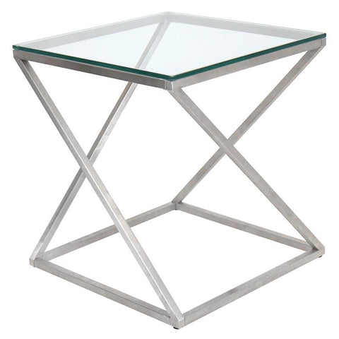 LumiSource TB-CT4Z SS 4Z Side Table - Peazz.com