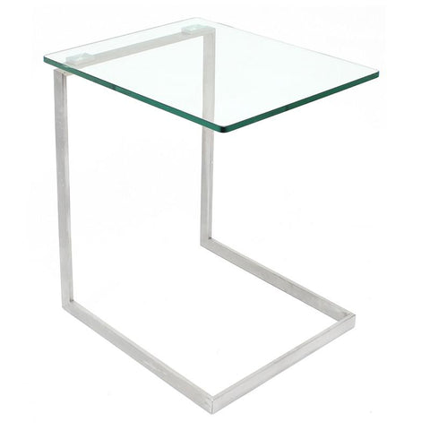 LumiSource TB-ZENN GLS Zenn Glass End Table - Peazz.com